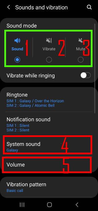 Galaxy S20 sound modes