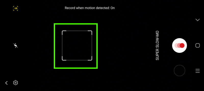 Galaxy S20 camera modes: super slow-mo mode, motion detection on