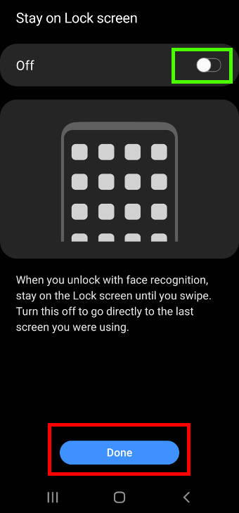 stay on lock screen or not