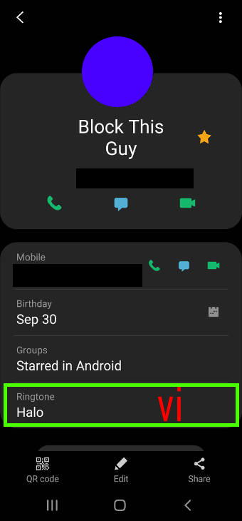 customize Galaxy S20 ringtone for individual contact