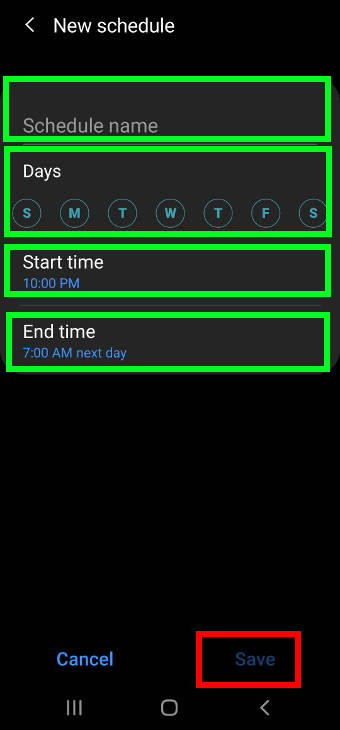 customize and schedule Do Not Disturb on Samsung Galaxy S20
