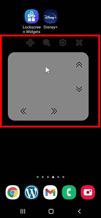 cursor control in Galaxy S20 Assistant menu