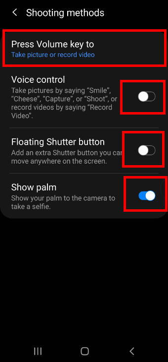use different shooting methods for Galaxy S20 camera