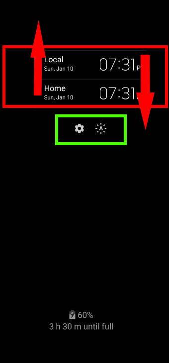 use widgets on Galaxy S20 always-on display (AOD) screen