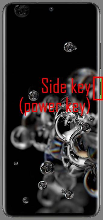 Galaxy S20 side key