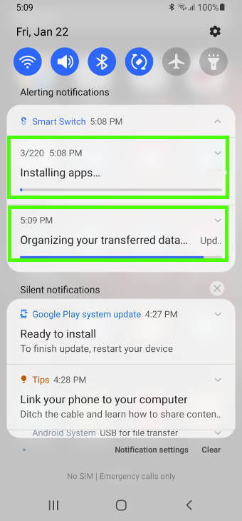migrate to Galaxy S21 with Samsung Smart Switch: restore data and install apps