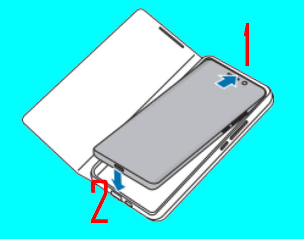 put on (attach) and remove (detach) Galaxy S21 Smart LED View Cover (LED Wallet cover)