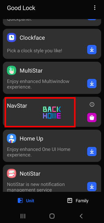 open NavStar in Good Lock