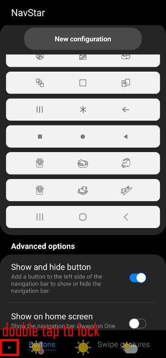 Show and hide Galaxy S21 navigation buttons and navigation bar