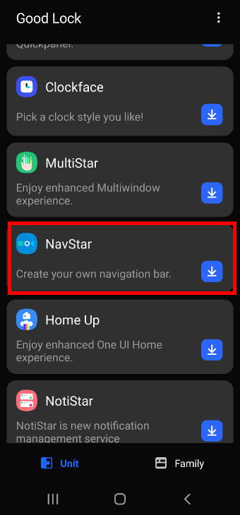 install and enable NavStar on Galaxy S21