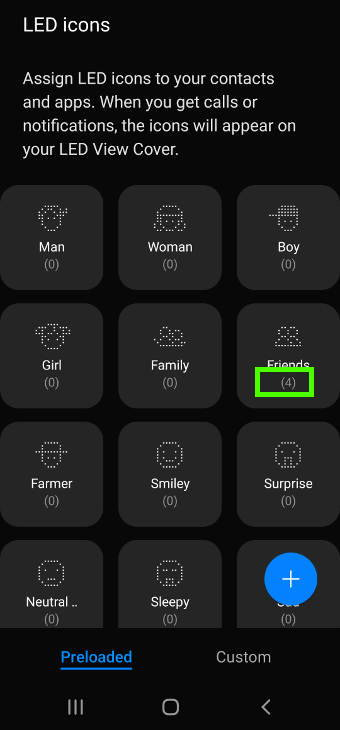 Customize LED icons for contacts and apps with the LED icon editor