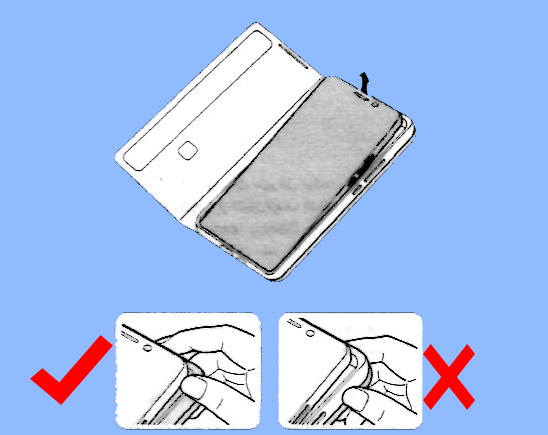 remove Galaxy S21 smart clear view cover (S-View cover) from the phone