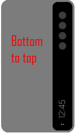 text direction on Galaxy S21 Smart Clear View Cover (S-View Flip Cover)