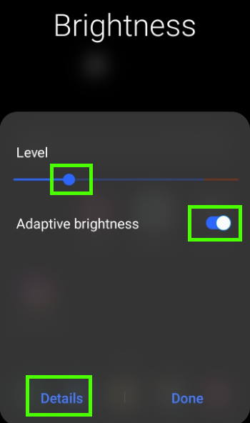Galaxy S21 brightness control