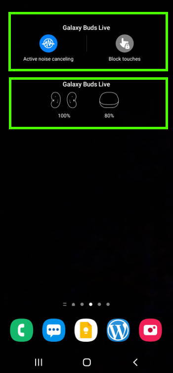 Galaxy buds live widgets on Galaxy S21