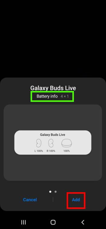 Add widgets from the Galaxy S21 Widgets screen