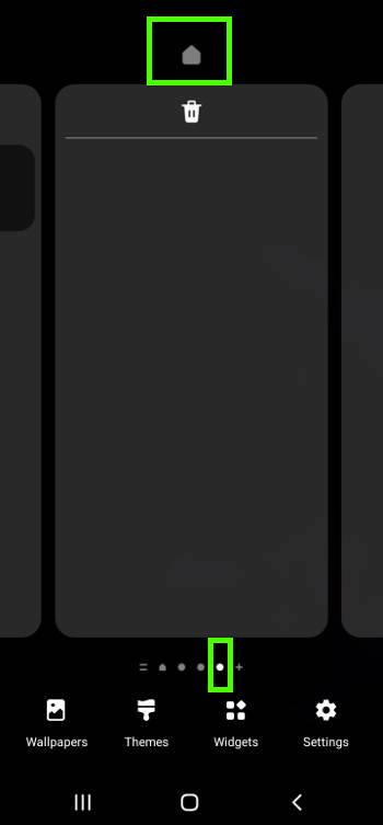 "Customize Galaxy S21 Home screen: assign a screen panel as the ""Home"" of the Galaxy S21 Home screen"
