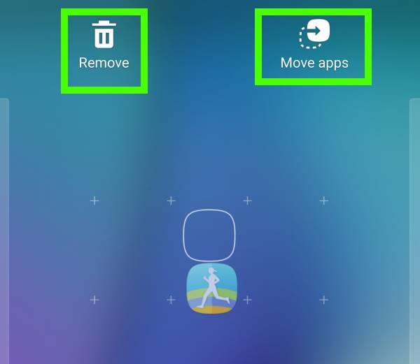 Galaxy S7 home screen: how to remove app from galaxy s7 home screen