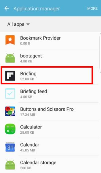 disable Flipboard briefing completely on Galaxy S7 and Galaxy S7 edge