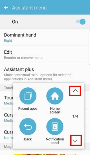 take screenshot on Galaxy S7 and Galaxy S7 edge and use Galaxy S7 scroll capture, assistant menu navigation