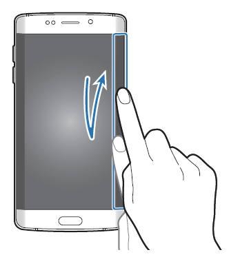 access edge screen on Galaxy S7 edge when screen is off