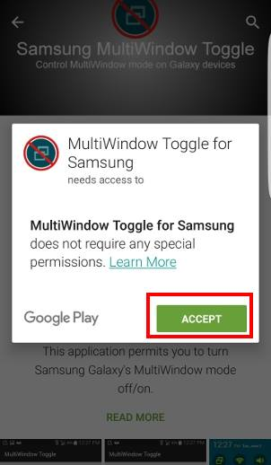 disable Multi Window on Galaxy S7 and Galaxy S7 edge