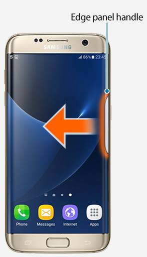 What are edge panels on Galaxy S7 edge?