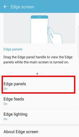 enable edge panels on Galaxy S7 edge