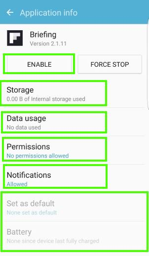 use Galaxy S7 application manager to disable or uninstall apps