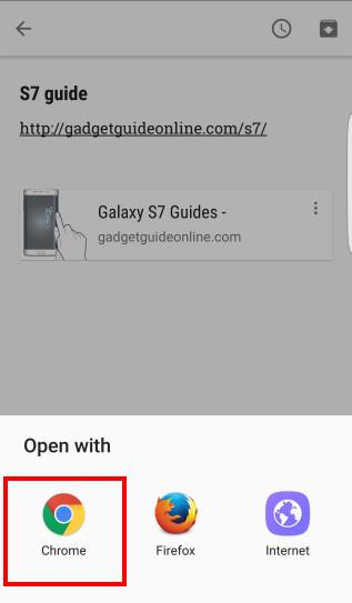 select Galaxy S7 default apps