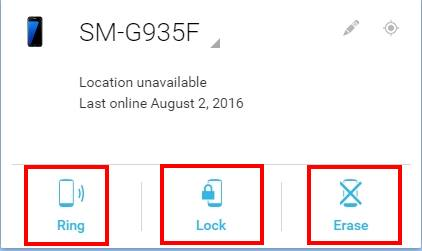 Why I cannot unlock Galaxy S7 and Galaxy S7 edge with Android device manager?