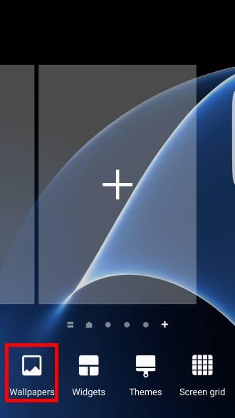 Enter edit mode of Galaxy S7 home screen
