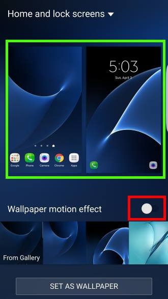 Select wallpaper for home screen or lock screen or both