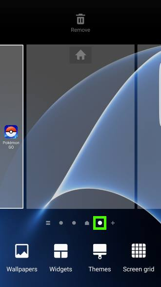 add more Galaxy S7 home screen panels