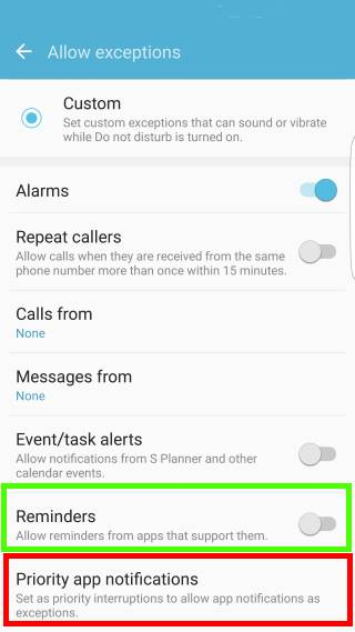 use Do not Disturb (DnD) to silence Galaxy S7 ringtone