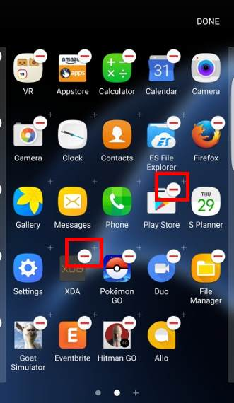 disable and uninstall apps in Galaxy S7 ans S7 edge in Apps screen