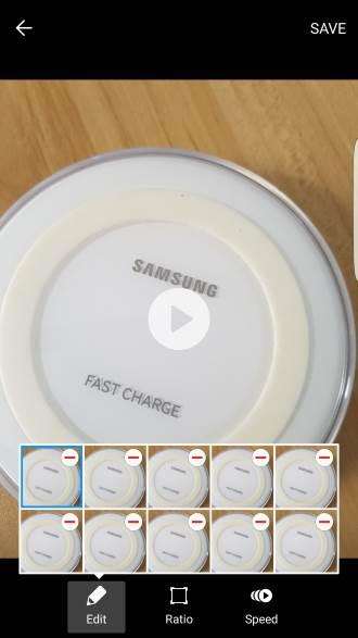 manage Galaxy S7 camera burst mode photos