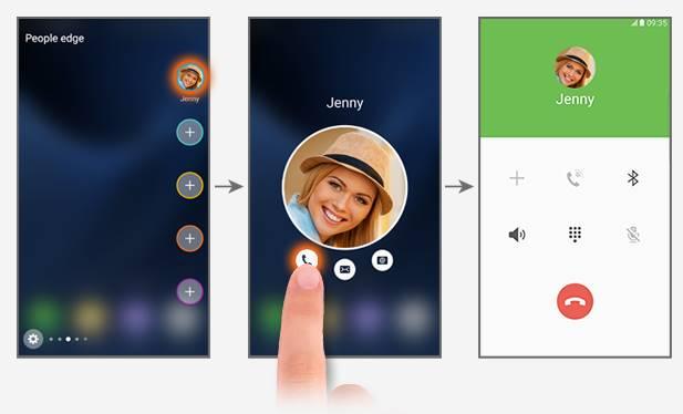 contact my people in People edge in edge screen of Galaxy S7 edge, Galaxy Note 7, Galaxy S6 edge and Galaxy S6 edge+
