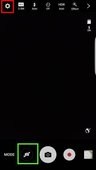 enable Galaxy S7 camera voice control