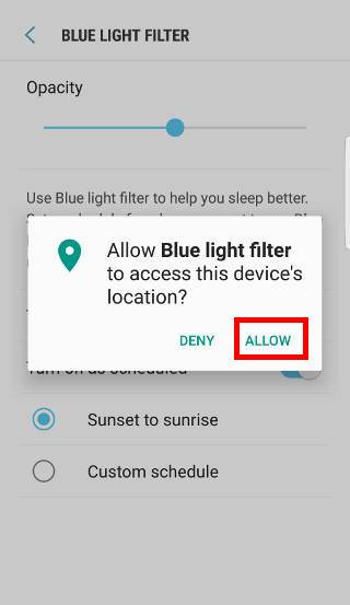 use Galaxy S7 blue light filter in Galaxy S7 and Galaxy S7 edge Android Nougat update?