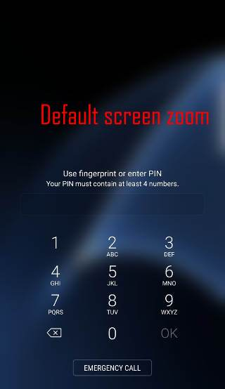 use screen zoom to adjust the size of icons and lock screen keypads in Android Nougat update for Galaxy S7 and Galaxy S7 edge