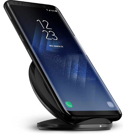 use wireless charger and fast wireless charger to charger to charge Galaxy S8 battery