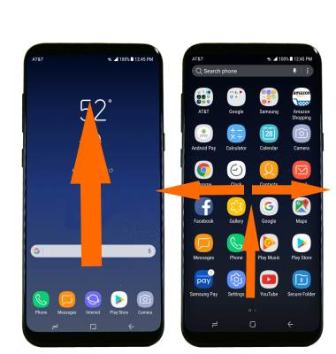 use gestures to access Galaxy S8 apps screen