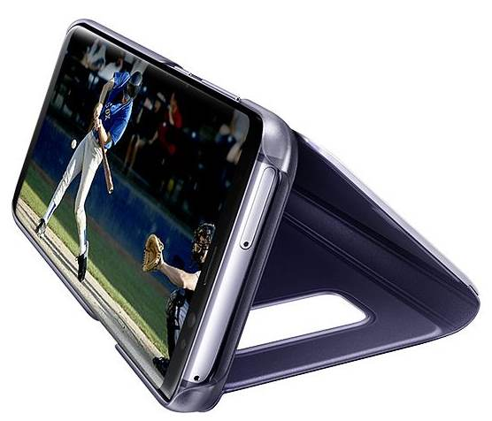 use kickstand in Galaxy S8 clear view standing cover