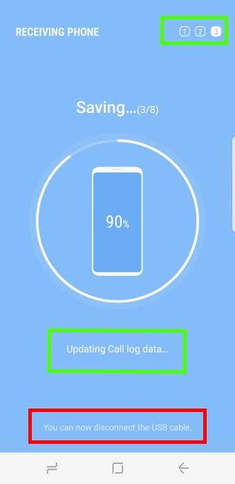 Migrate to Galaxy S8: use USB cable to transfer data from old device to Galaxy S8 and S8+
