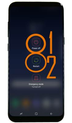 Use power button to power on Galaxy S8, power off Galaxy S8, and to reboot Galaxy S8 and S8+