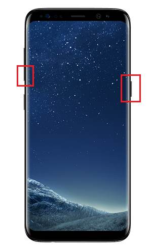 How to take screenshot on Galaxy S8 and S8+ without using any apps?