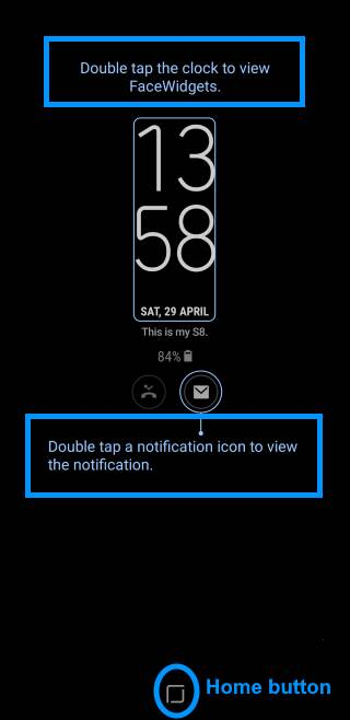 use Galaxy S8 always-on display (AOD) in Galaxy S8 and S8+