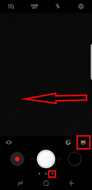 access and use Galaxy S8 camera effects and camera decorations