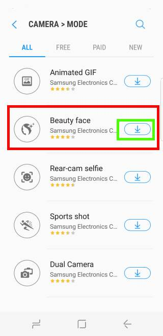 download and install Galaxy S8 camera modes